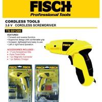 Cordless Screwdriver Mesin Obeng Bor Portable Fisch TS601200
