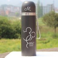 Jual Botol Minum Thermos Mickey Mouse Stainless Steel 500ml - Black F141 Murah