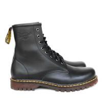 Jual sepatu docmart 8 hole hitam dan coklat tua kulit asli Murah