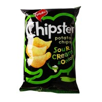 Cemilan Unik Chipster Potato Chips Sour Cream And Onion 160g (HALAL)