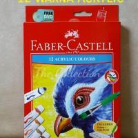 Jual ATK0234FC Cat Acrylic 12 warna 572312 Faber Castell akrilik air kanvas Murah
