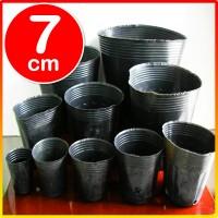 1000 pcs Pot Polibag Polybag kecil pembibitan bibit impor cetak 7cm