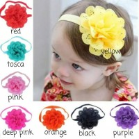 BANDANA BANDO BAYI BABYI HEADBAND 6 CANDY COLOR FLOWER