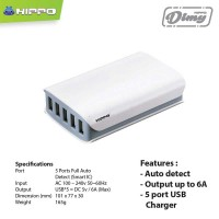 Hippo Dimy 5 Ports Charger Iphone Xioami samsung Lenovo Simple Pack