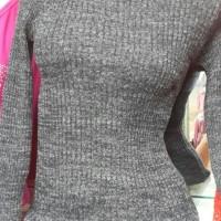 Jual Sweater rajut turtle neck jalur twist Murah