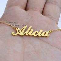 kalung/liontin nama gold lapis emas asli 24 Karat bisa custom nama