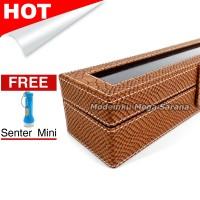 [Kualitas Super] Kotak Box Jam Tangan Isi 6 - Coklat Crocodile