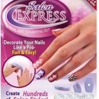 Jual Salon Express - Nail Art Stamping Kit , Decorate Your Nails Like A Murah