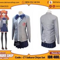 [CT Sakura Chiyo Set] Kostum Cosplay Anime Manga Gekkan Shoujo Nozaki