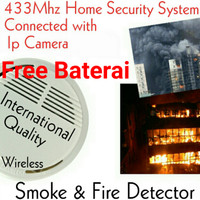 harga Smoke & Fire Detector 433Mhz Home Security System Tokopedia.com