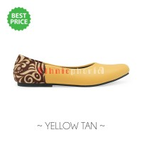 harga Sepatu wanita / flat shoes etnik, batik, tenun - Yellow Tan Tokopedia.com