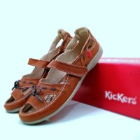 sepatu sandal wanita simpel lucu bagus kickers pita slop slip on