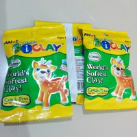 Airdry Clay i-clay for toys, Amos iclay 15 gram, Green (Hijau)