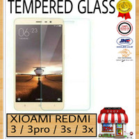 TEMPERED GLASS KACA FOR HP XIAOMI REDMI 3 / PRO / 3S / 3X