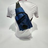 tas cowok/dada/pinggang/punggung/slempang/terbaru/pria/waistbag Blue
