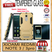 harga Xiaomi Redmi Note 3 / Pro Back Case Armor Hybrid + TEMPERED GLASS Tokopedia.com