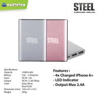 Hippo Power Bank 12000MAH Steel Simple Pack