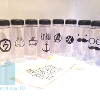 CUSTOM My Bottle Sticker GAMBAR LOGO - Stiker My Bottle