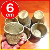 Pot Kertas mirp jiffy pulp kecil pembibitan bibit impor 6cm