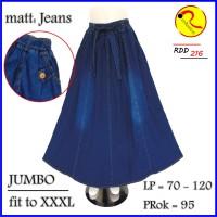Rok Jeans JUMBO XXXL Pecah Delapan Terbaru