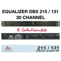 Equalizer DBX 215/131 30 Channel 2-Series Graphic Professional EQ Dual