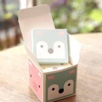 catatan tempel kubus hewan animals creative boxed sticky notes sno026
