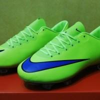 sepatu sepak bola nike mercurial vapor x hijau volt fg grade ori impor