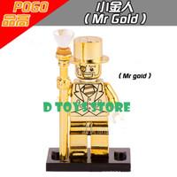 Brick/ Lego Starwars Minifigure Mr Gold loosepack