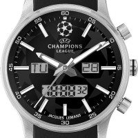 Jacques Lemans UEFA Future Champion - Jam Tangan Pria - Strap Leatherh