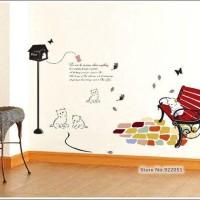 harga Wall Sticker Dinding Hias Rumah 70x50 Kucing Cat AY7013 Tokopedia.com