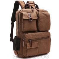 Tas ransel pria kanvas sekolah kuliah / tas punggung cowok kerja TS573
