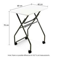 Meja Lipat Serbaguna Dengan Beroda