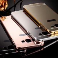 Mirror / Miror Case Metal Samsung Galaxy J2 - J 2 Bumper Hard Cover