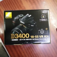 Kamera DSLR Nikon D3400 Kit AF-P 18-55mm VR + Tas + UV Filter + 16GB