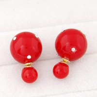 Anting Tusuk Diamond Warna Merah Fashionabel/Modis/Cantik/Bagus/B11067