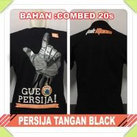 kaos persija Jakarta tangan black the jak mania combed hitam baju