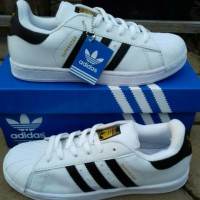 Sepatu Adidas Superstar White List Black Kw Super