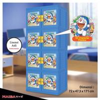 harga Lemari Baju Plastik 4 Susun 3D Doraemon NAIBA Tokopedia.com