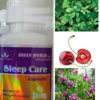 OBAT SUSAH TIDUR HERBAL / SLEEP CARE CAPSULE GREEN WORLD ORI 100%