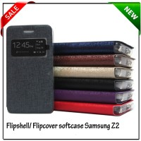 Flip Cover Softcase Samsung Z2 Premium Leather Case