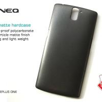 Hardcase Zineq Matte Back Hard Case Cover Casing Hitam OnePlus One / 1