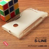 Softcase Back Jelly Soft Case Cover Casing Nokia Microsoft Lumia 435