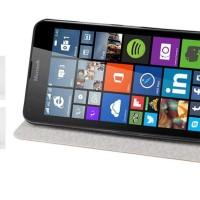 Dompet Book Slim Leather Flip Case Casing Nokia Microsoft Lumia 640