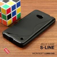 Softcase Jelly Slim Back TPU Soft Case Cover Nokia Microsoft Lumia 640