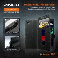 Dompet Zineq Leather View Book Slim Flip Case Cover Casing Lenovo P70