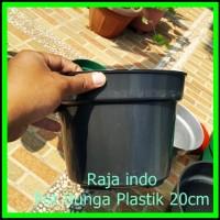 Pot Bunga 20cm Hitam Pot Tanaman Hias Grosir Murah Plastik 20 cm Bibit
