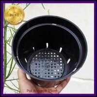 Pot Bunga Anggrek 15cm | Jual Pot Plastik Orchid 15 cm Grosir Murah