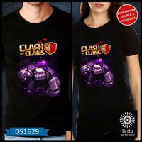 kode : DS1629 T-Shirt Baju Kaos Golem Clash Of The Clans Murah