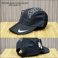 TOPI NIKE BLACK LOGO HQ 1619 import keren murah bagus baru ready