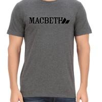 kaos oneck macbeth logo abu tua custom clothing
